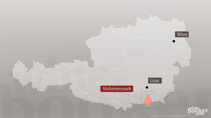 Die geographische Landkarte vom Weingut Tement in Österreich