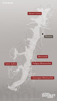 Geographische Detailkarte Jacques Prieur Cote de Beaune
