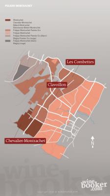 Geographische Detailkarte Jacques Prieur Puligny-Montrachet